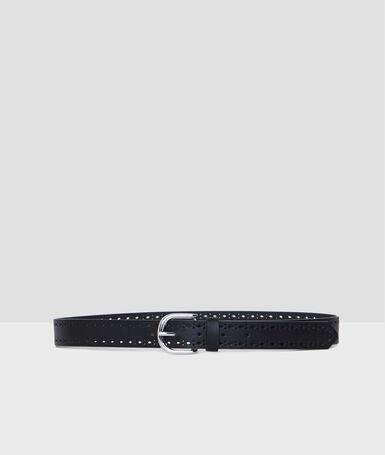 Perforated belt black.