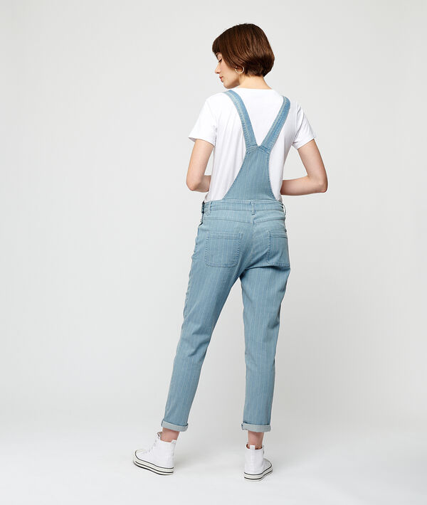 Denim dungaree in stripe