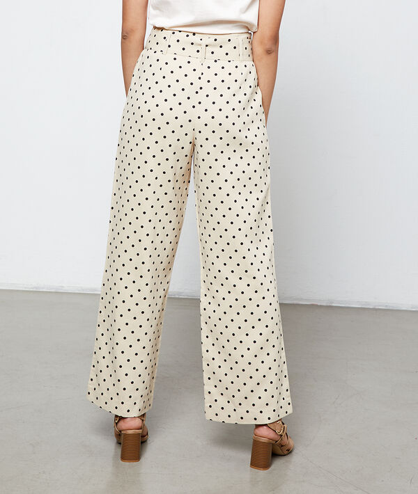 Wide leg trousers in dots