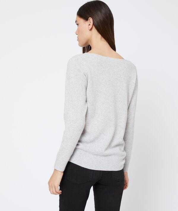 Boatneck cashmere jumper