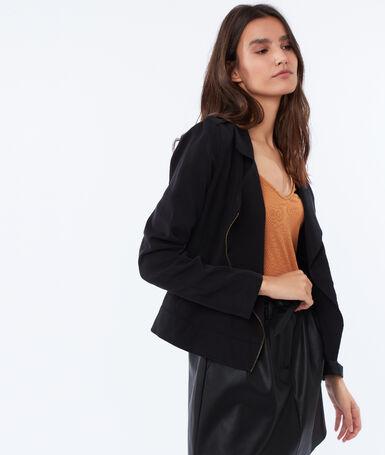 Tencel® zipped jacket black.
