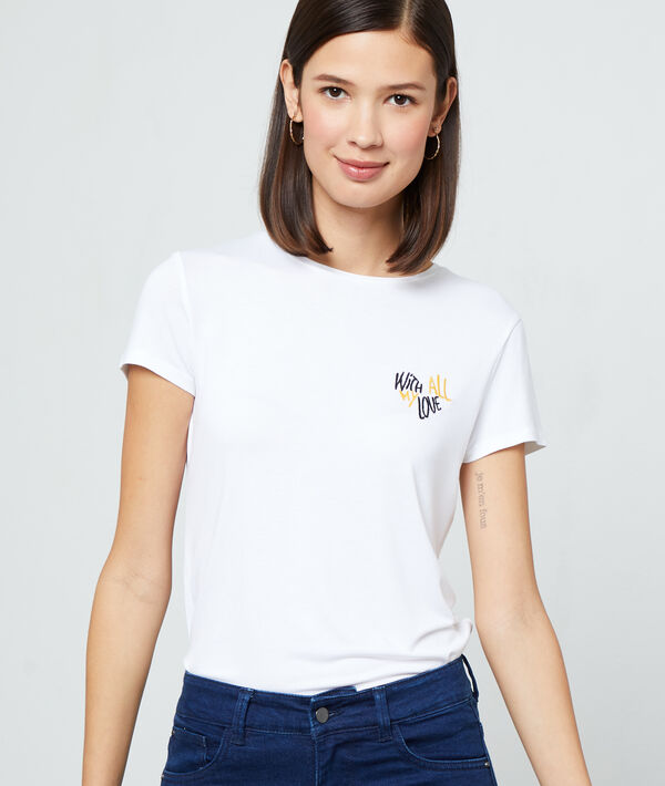 """with all my love"" broderie T-shirt"