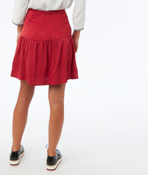 Ink pattern jacquard skirt