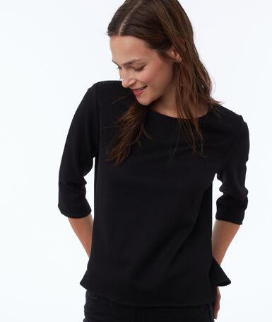 3/4 sleeve sweatshirt black.