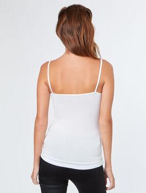 Sleeveless top white.