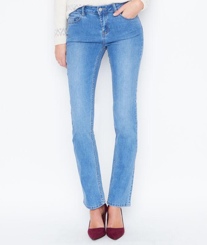 Straight jeans medium denim.