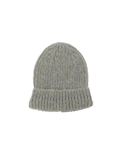 Metallic thread beanie hat