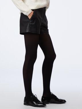 Short simili cuir à clous noir.