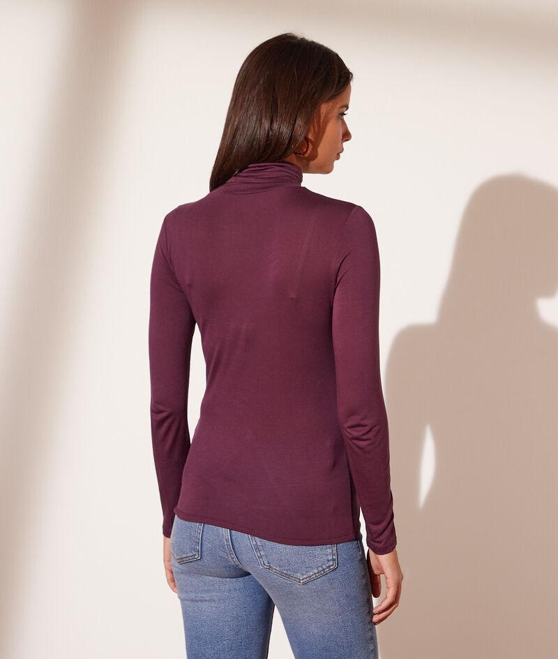 Long sleeve polo-neck top