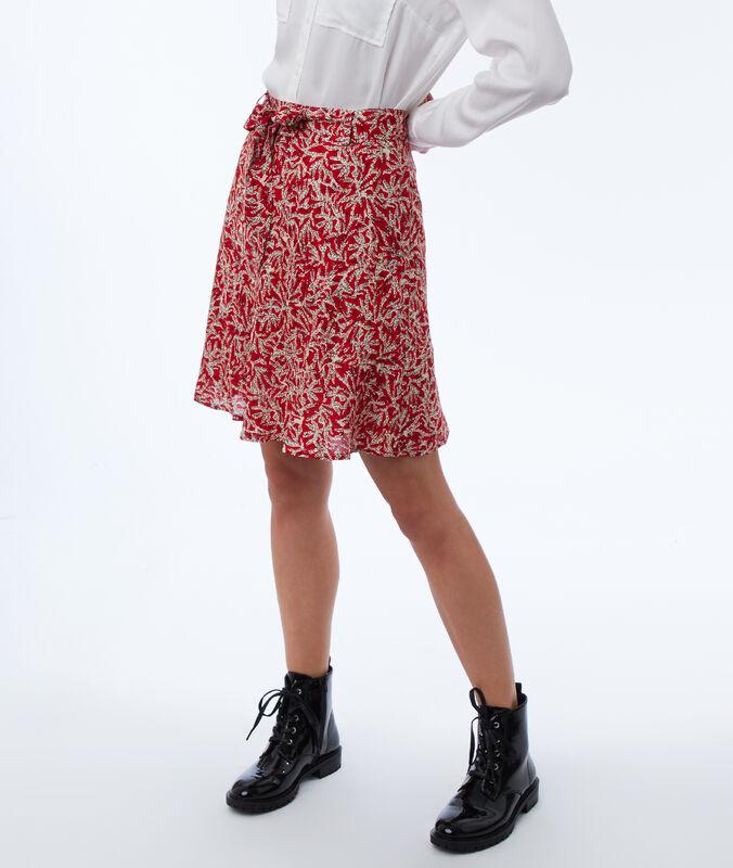 Skater skirt with print poppy.