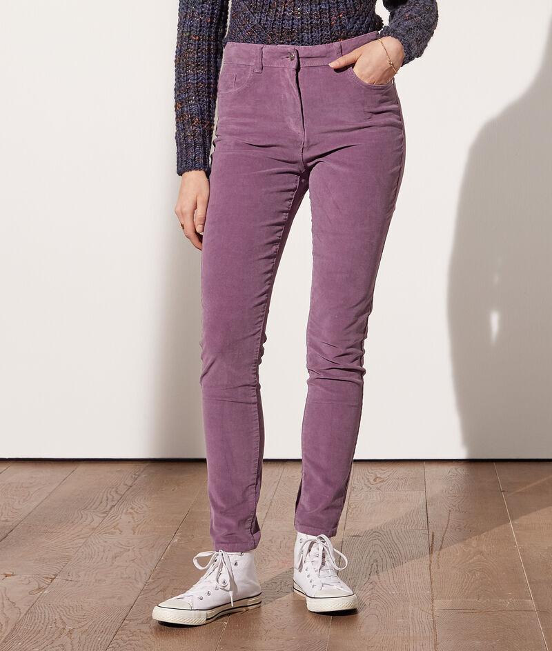 Pantalon slim en velours côtelé