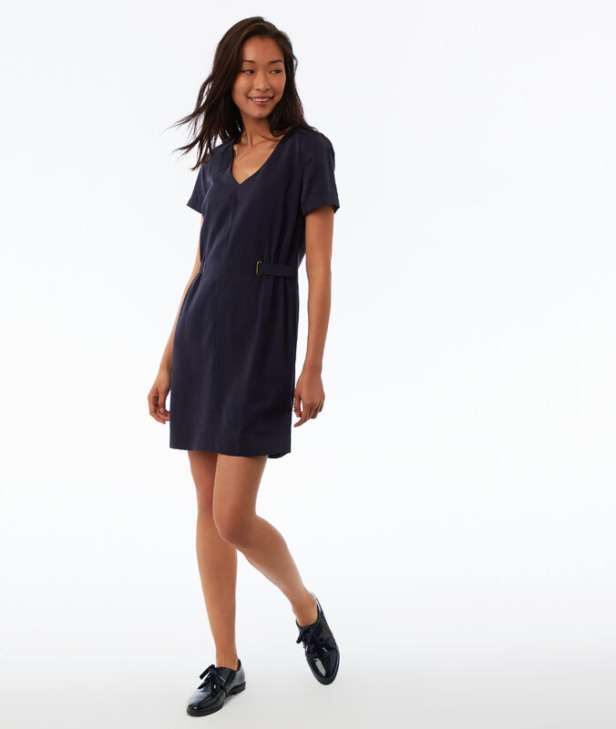 Tencel® dress navy blue.