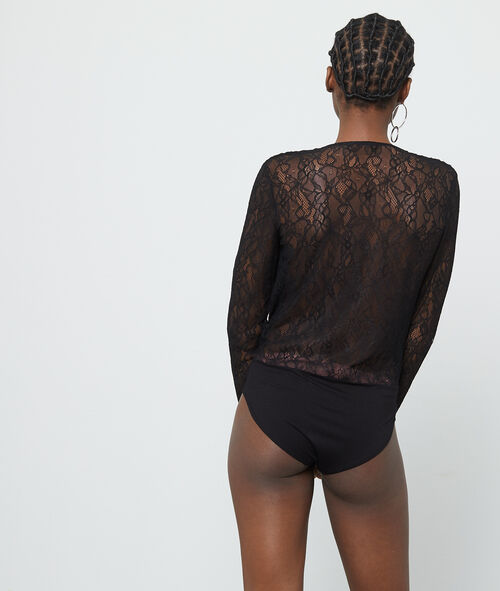 Guipure lace wrap body