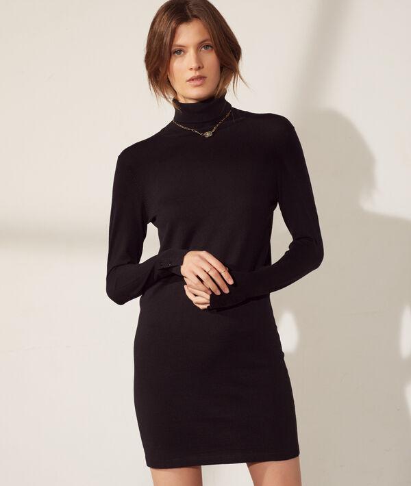 Turtleneck jumper dress
