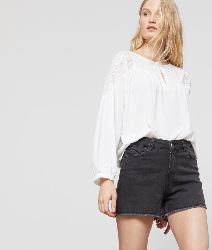 Denim shorts anthracite gray.
