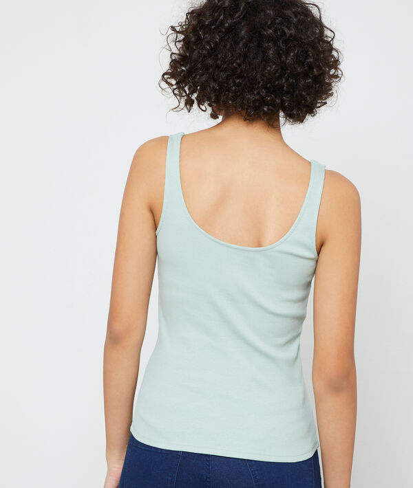 Buttoned tank top