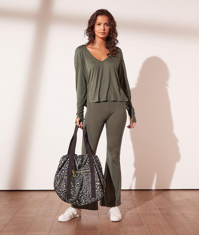 Leopard print sports bag