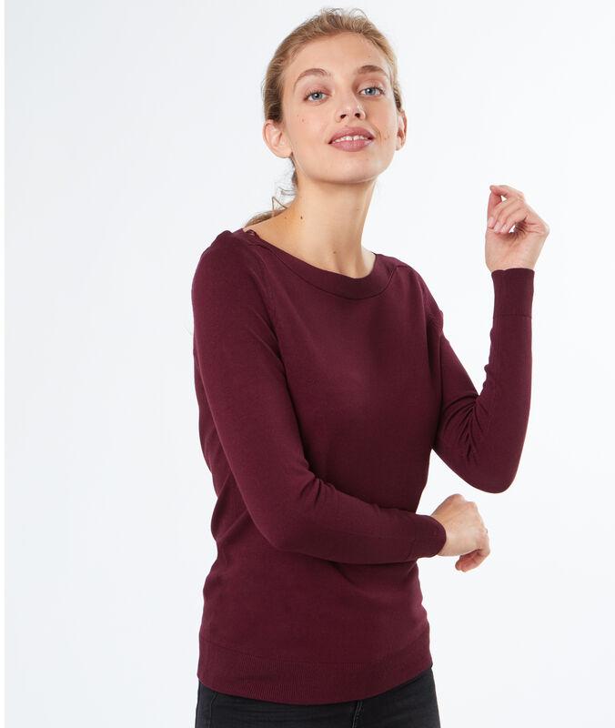 Sailor neck sweater burgundy.