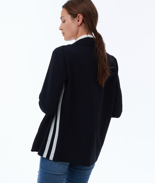 Jacket with side stripes
