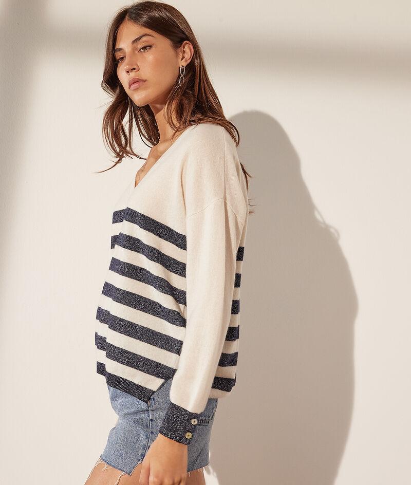 Wool and cashmere V-neck jumper
