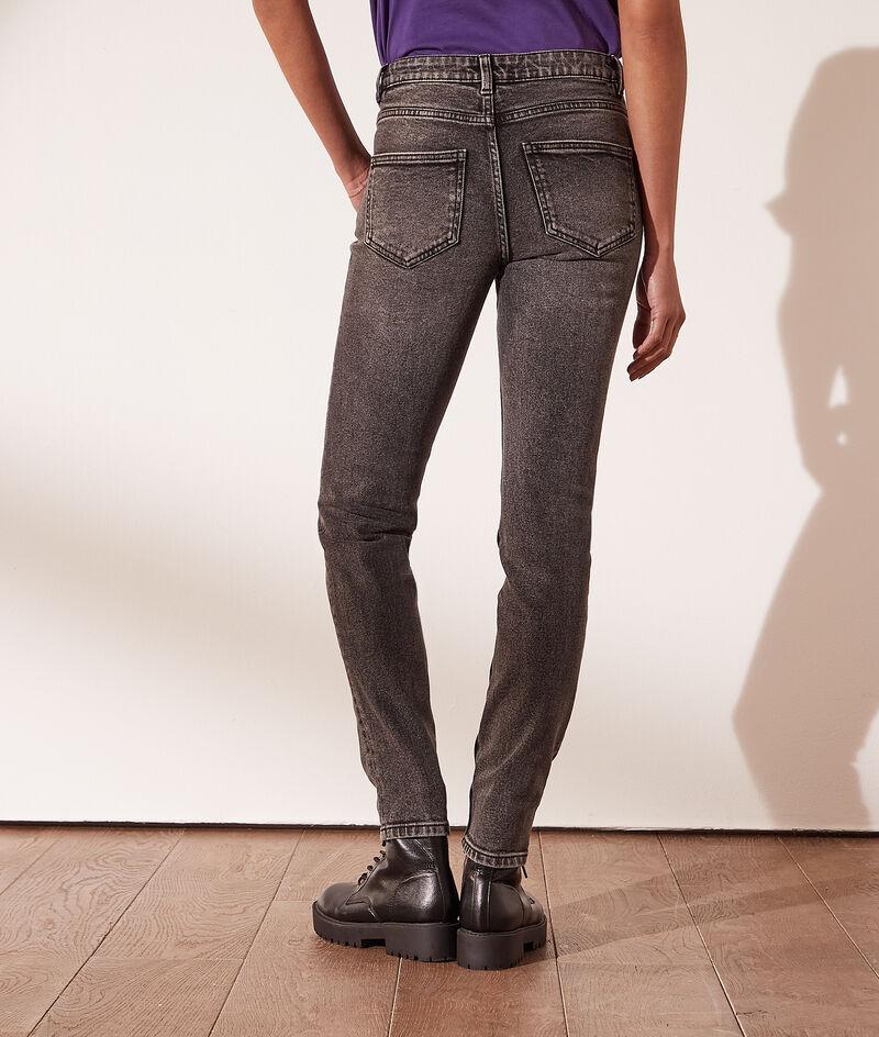 Faded-effect slim jeans