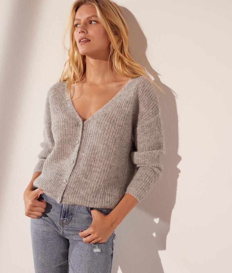 Reversible knit cardigan