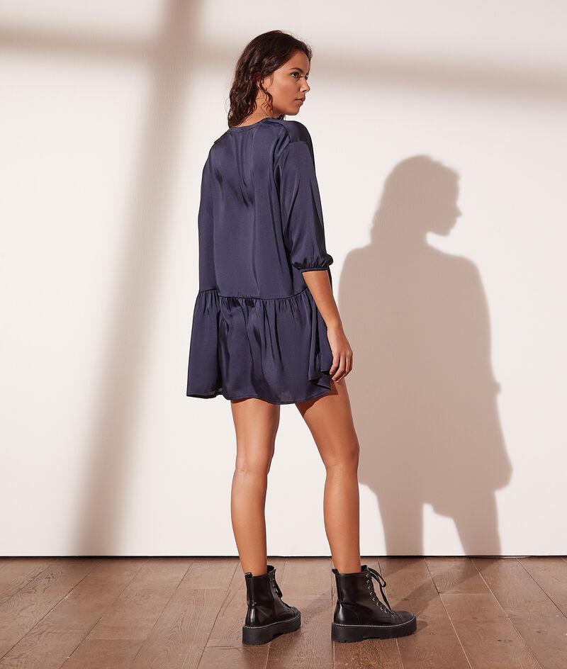 Short satin dress