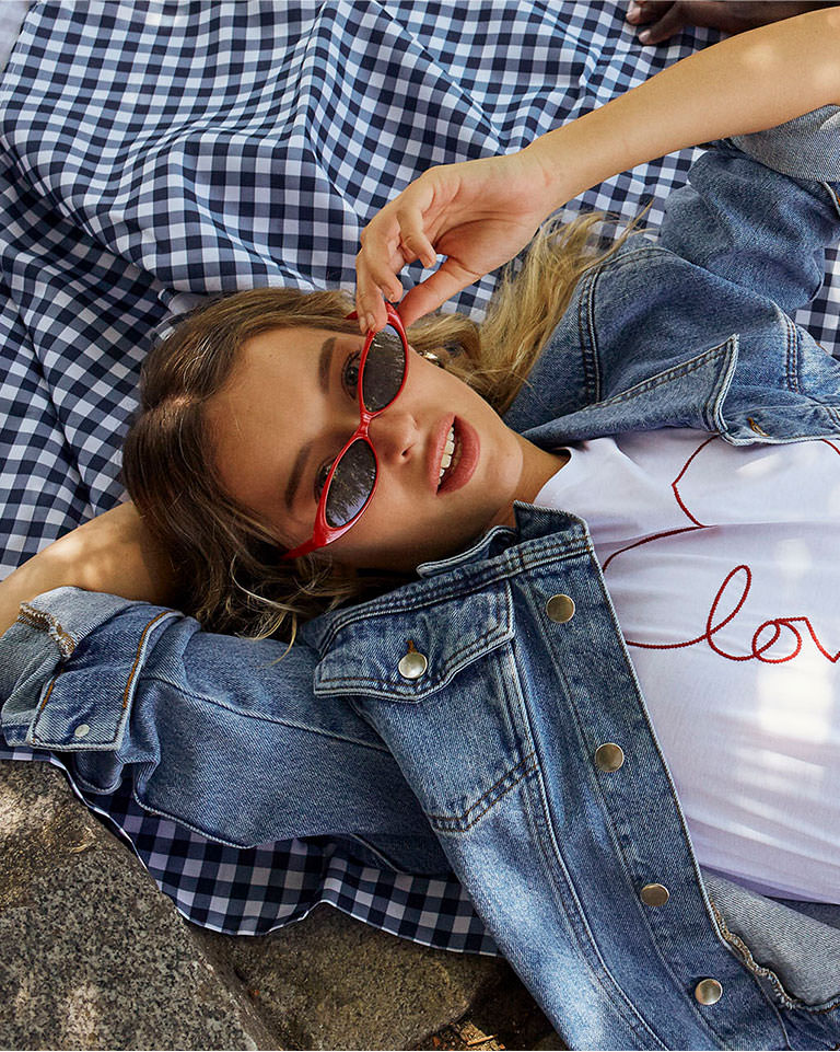 """ETAM - DREAM Veste en jean """"Forever dreamer girl"""""""