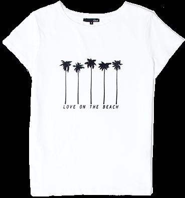 """ETAM - MULTIPALM T-shirt """"Love on the beach"""" en coton"""