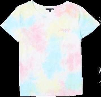 "ETAM - RAINBOW T-shirt brodé ""Happy"" tie and dye"